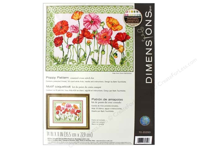 Dimensions Cross Stitch Kit 14 in. x 11 in. Poppy Pattern