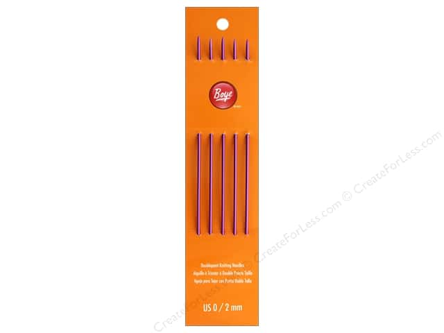 Boye Knit Needle 7 in. Double Point Aluminum Size 0
