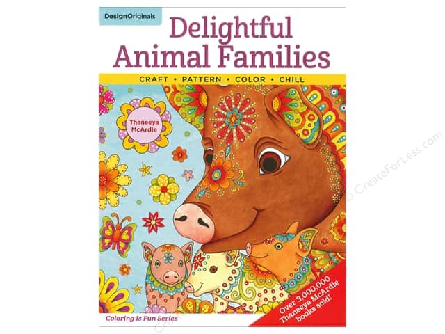 Design Originals Delightful Animal Families Book