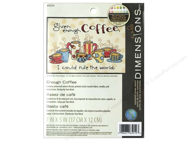 Dimensions Cross Stitch Kit 7 in. x 5 in. Enough Coffee