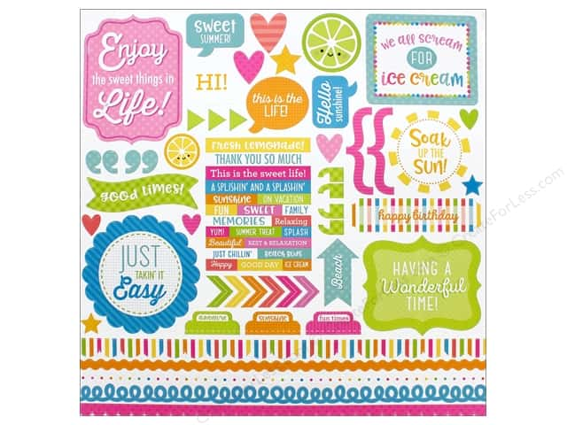 Doodlebug Collection Sweet Summer Sticker This & That (12 pieces)