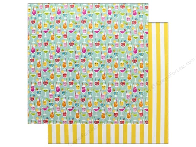 Doodlebug Collection Sweet Summer Paper 12 in. x 12 in. Happy Hour