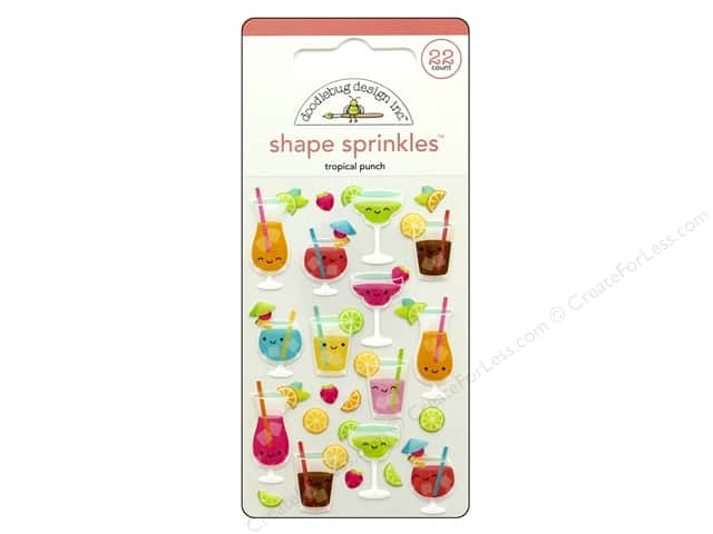 Doodlebug Collection Sweet Summer Sprinkles Shape Tropical Punch