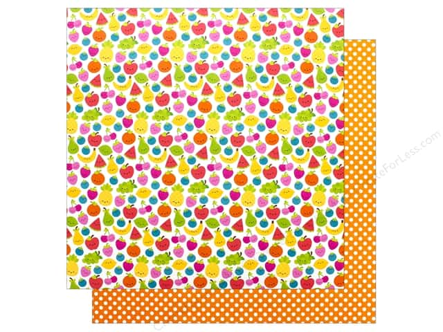 Doodlebug Collection Sweet Summer Paper 12 in. x 12 in. Fruit Cocktail