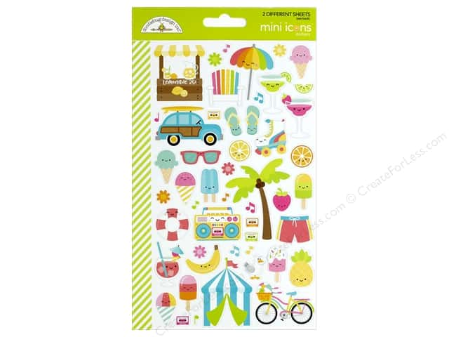 Doodlebug Collection Sweet Summer Sticker Mini Icon (12 sets)