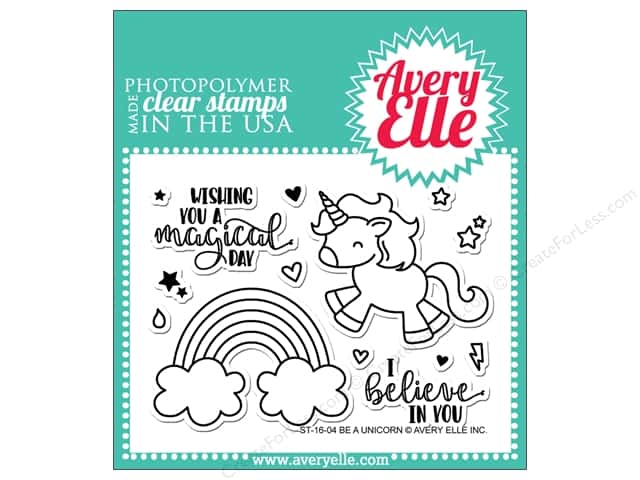 Avery Elle Clear Stamp Be A Unicorn