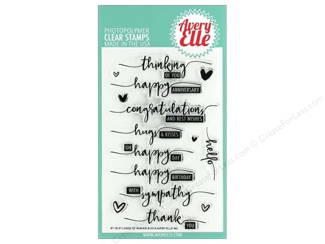 Avery Elle Clear Stamp Loads of Wishes