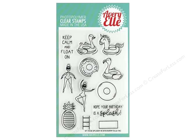 Avery Elle Clear Stamp Splash
