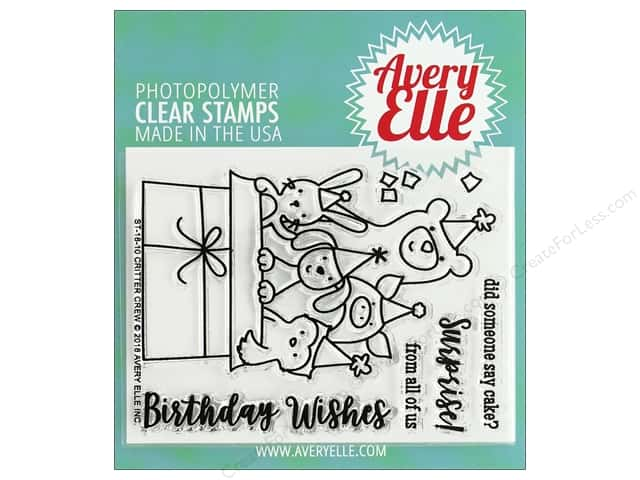 Avery Elle Clear Stamp Critter Crew