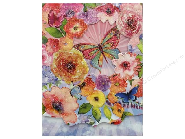 Punch Studio Note Pad Pocket Window Butterfly