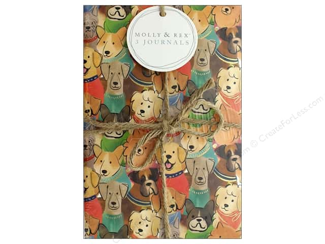 Molly & Rex Journal Twines Cats & Dogs 3 pc