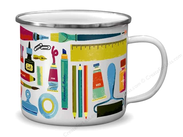 Molly & Rex Enamel Mug Art Lover
