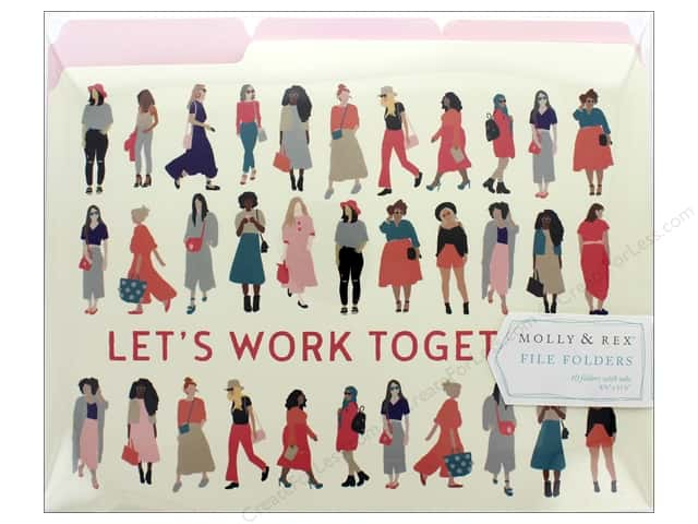 Molly & Rex File Folder Yes She Can 10 pc