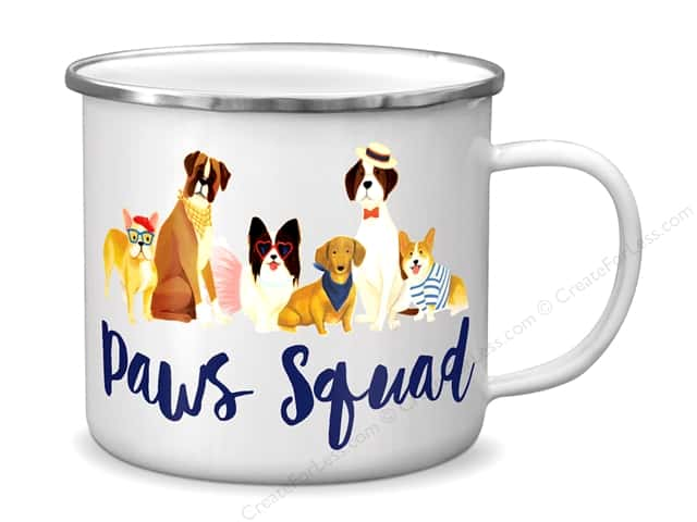 Molly & Rex Enamel Mug Cats & Dogs