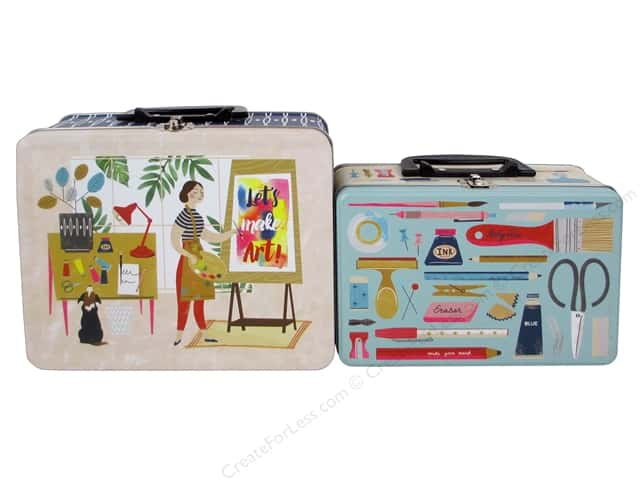 Molly & Rex Lunch Box Tin Art Lover 2 pc