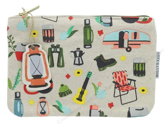 Molly & Rex Bag Happy Camper Zippered Utility