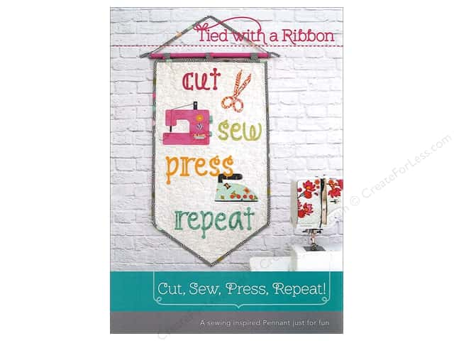 Tied With A Ribbon Cut, Sew, Press, Repeat Pattern
