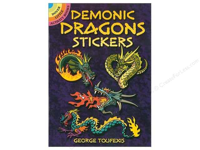Dover Publications Little Demonic Dragon Sticker Book