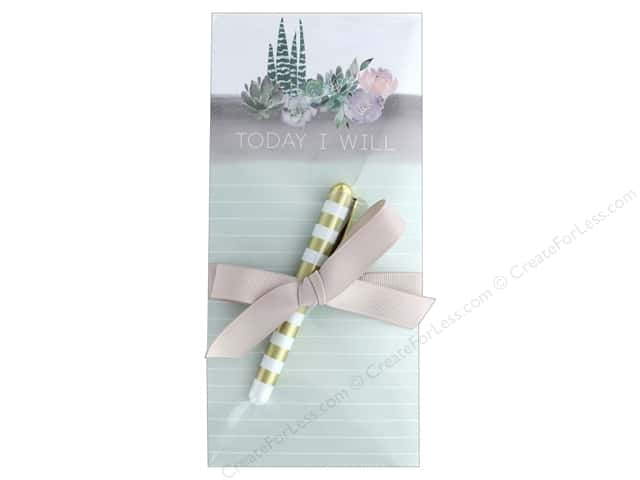 Lady Jayne Note Pad Magnetic List With Pen Cactus Garden