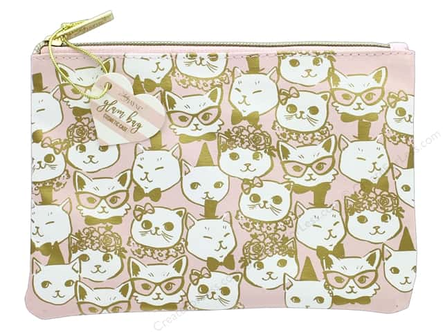 Lady Jayne Cosmetic Bag Glam Fancy Cats Gold Foil