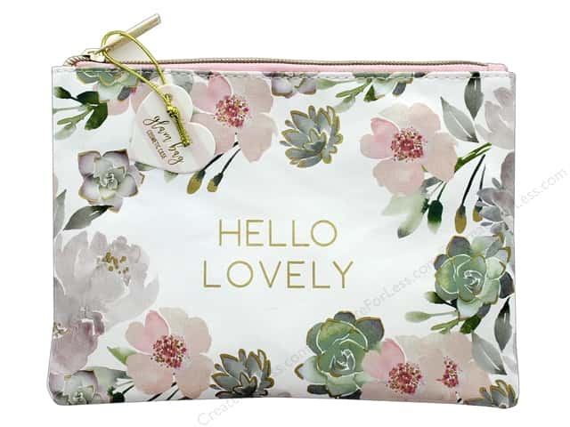 Lady Jayne Cosmetic Bag Glam Lovely Floral Gold Foil