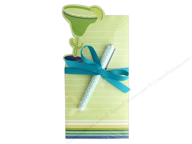 Lady Jayne Note Pad Die Cut With Pen Margarita