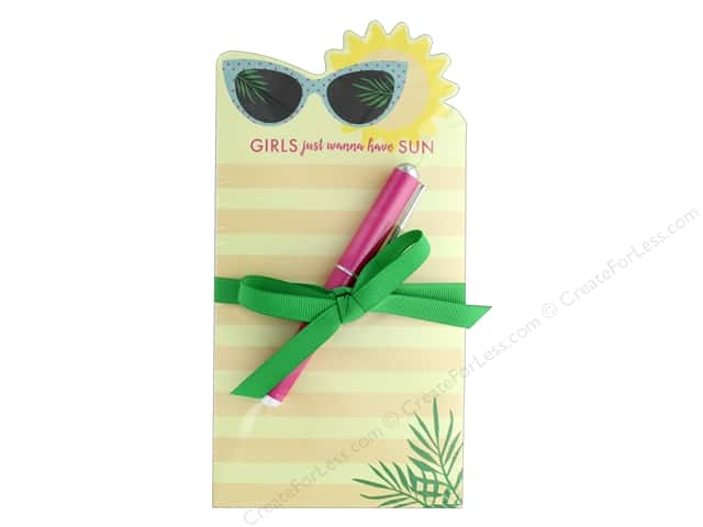 Lady Jayne Note Pad Die Cut With Pen Sunglasses