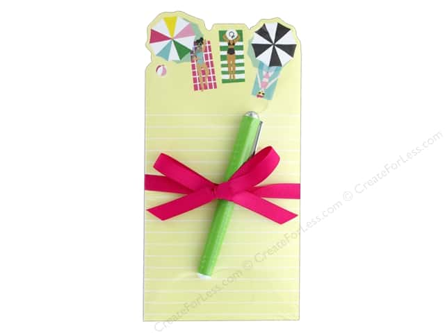 Lady Jayne Note Pad Die Cut With Pen Beach