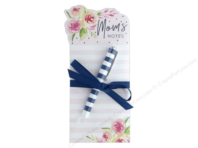 Lady Jayne Note Pad Die Cut With Pen Navy Roses Moms Notes