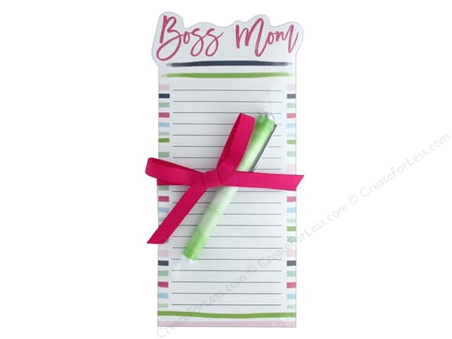 Lady Jayne Note Pad Die Cut With Pen Boss Mom