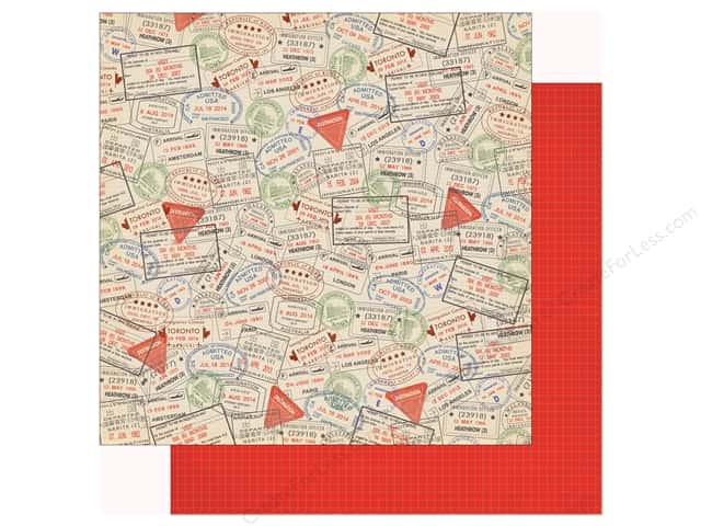 Carta Bella Collection Passport Paper 12 in. x 12 in. Passport Stamp