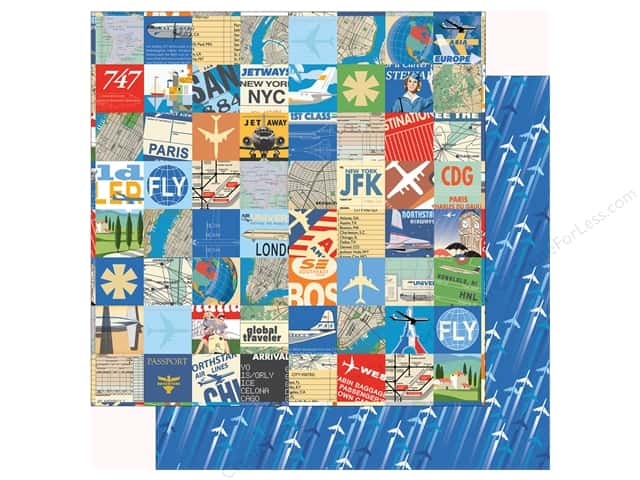 "Carta Bella Collection Passport Paper 12""x 12"" Travel Squares"