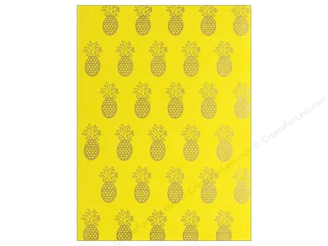 Lady Jayne Journal Faux Leather Yellow Pineapples