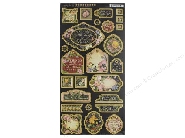 Graphic 45 Collection Floral Shoppe Chipboard