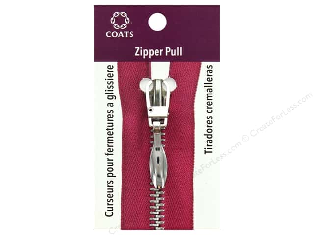 Coats & Clark Zipper Pull Tear Drop Silver