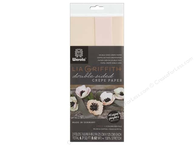 Werola Lia Griffith Crepe Paper Double Sided 2 pc Blush