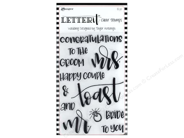 Ranger Letter It Stamp Set - Wedding