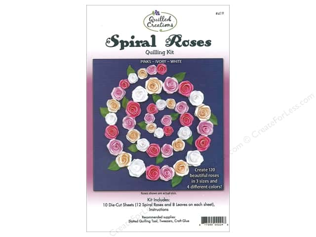Quilled Creations Spiral Roses Quilling Kit - Pinks, Ivory & White
