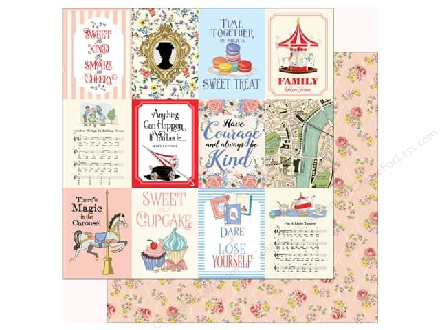 Carta Bella Practically Perfect Paper 12 in. x 12 in. Journaling Cards 3 in. x 4 in. (25 pieces)