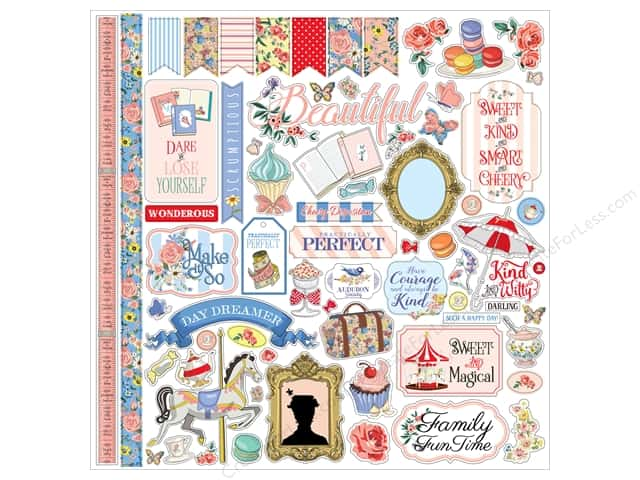 Carta Bella Collection Practically Perfect Sticker 12 in. x 12 in.