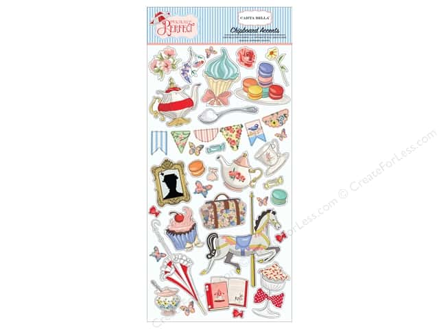 Carta Bella Collection Practically Perfect Chipboard 6 in. x 12 in. Accents