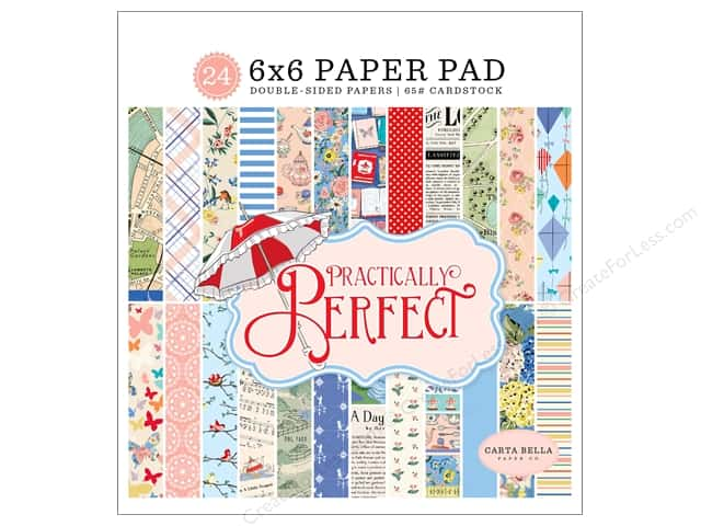Carta Bella Collection Practically Perfect Paper Pad 6 in. x 6 in.