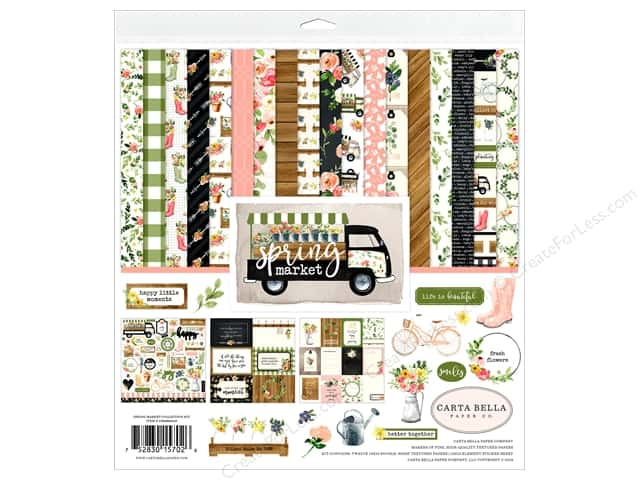 Carta Bella Collection Spring Market Collection Kit  12 in. x 12 in.