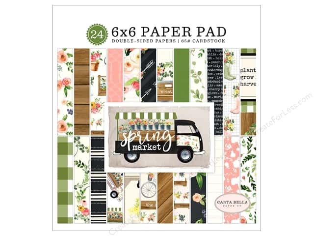 Carta Bella Collection Spring Market Paper Pad 6 in. x 6 in.