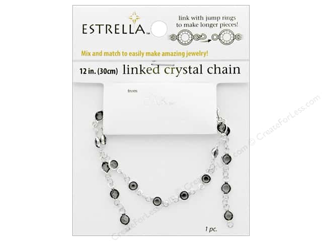 Solid Oak Chain Estrella 12 in. Close Link 4 mm Silver/Smoke