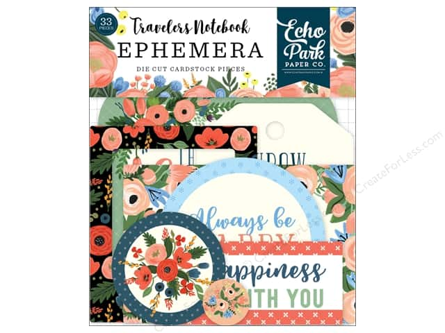 Echo Park Collection Travelers Notebook Fancy Flora Ephemera