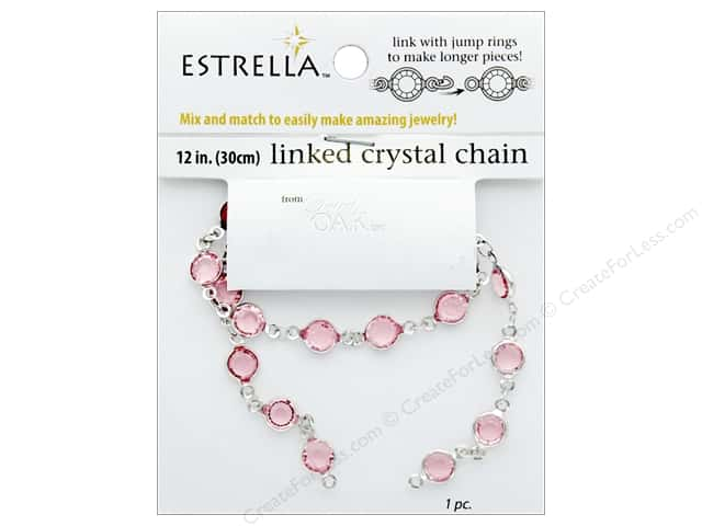 Solid Oak Chain Estrella 12 in.  Close Link 6 mm Silver/Rose