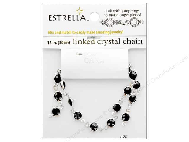Solid Oak Chain Estrella 12 in. Close Link 6 mm Silver/Black