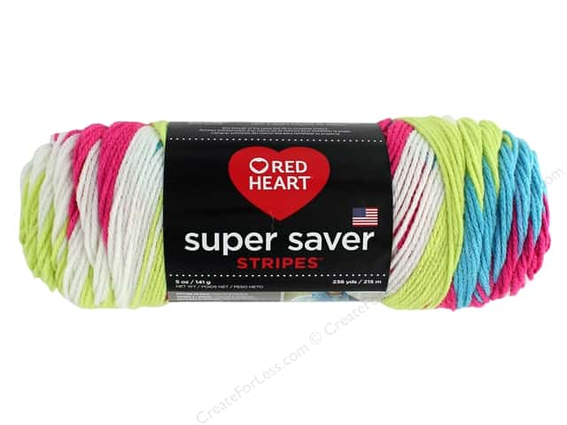 Red Heart Super Saver Yarn 236 yd. #4145 Candy Stripe