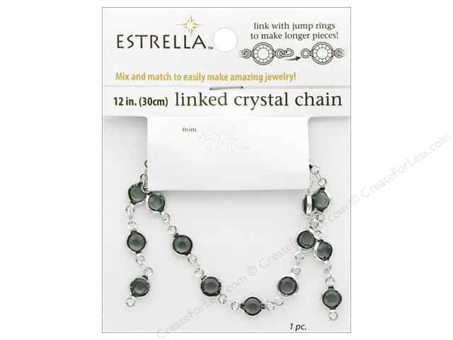 Solid Oak Chain Estrella 12 in.  Close Link 6 mm Silver/Smoke